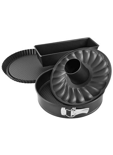 Zenker Zenker 6528 Black lic Teflon Kaplama 4 ParÇalı Kek Kalıbı Seti Renkli